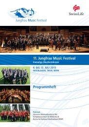 11. Jungfrau Music Festival Programmheft