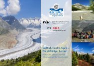Flyer - UNESCO Welterbe Schweizer Alpen Jungfrau-Aletsch