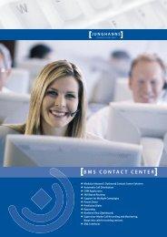 BMS CONTACT CENTER - Junghanns Communications GmbH