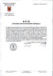 Evaluation environnementale stratégique - Article 23 ... - Junglinster