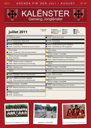 Kalenster Juli / August 2011 - Junglinster