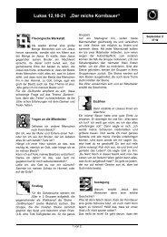 """Lukas 12,16-21 """"Der reiche Kornbauer"""" - Jungschar"""