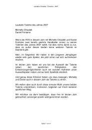 Laudatio Talente des Jahres 2007 Michelle Chwalek Daniel ...