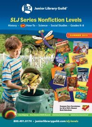 Summer 2013 Catalog - Junior Library Guild