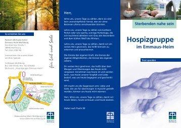 Hospizgruppe im Emmaus-Heim - Diakonie Wolfsburg