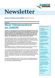 Newsletter 01/2010 - Junior