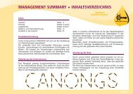 MANAGEMENT SUMMARY + INHALTSVERZEICHNIS - Junior