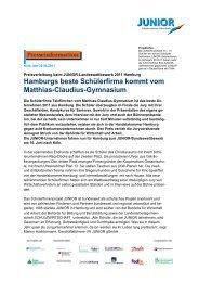 JUNIOR-Landeswettbewerb in Hamburg
