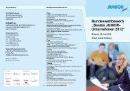 """Bundeswettbewerb """"Bestes JUNIOR- Unternehmen 2012"""""""