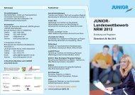 JUNIOR- Landeswettbewerb NRW 2013