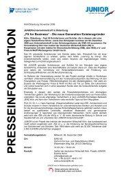 JUNIOR-Unternehmertreff in Oldenburg