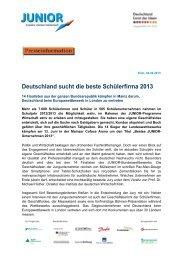 Deutschland sucht die beste Schülerfirma 2013 - Junior