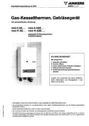 MINI 8/11..AE,ASE - Junkers Kundendienst