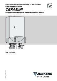 Gas-Kesseltherme CERAMINI - Junkers Kundendienst