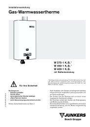 Gas-Warmwassertherme - Junkers Kundendienst