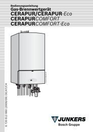 CERAPUR/CERAPUR-Eco CERAPURCOMFORT ... - ImmoTec-Shop