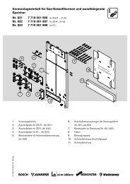 Vormontageeinheit für Gas-Kesselthermen und ... - Junkers