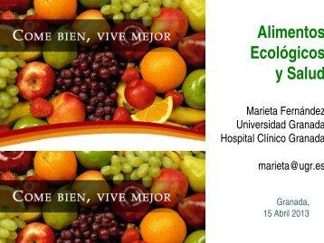 Agricultura Ecológica y Salud. - Junta de Andalucía