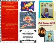 Art Camp 2013 Flyer - Jupiter Christian School