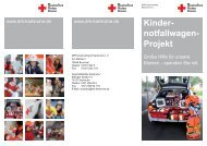 Kinder- notfallwagen- Projekt - DRK Kreisverband Karlsruhe