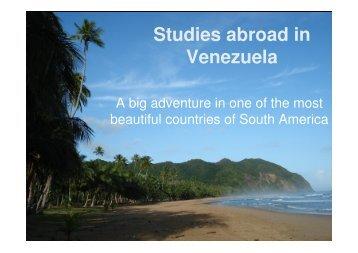 Studies abroad in Venezuela