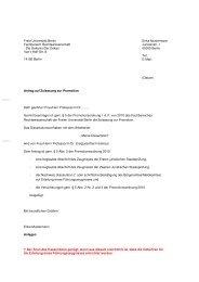 Antrag auf Zulassung zur Promotion - Fachbereich ...