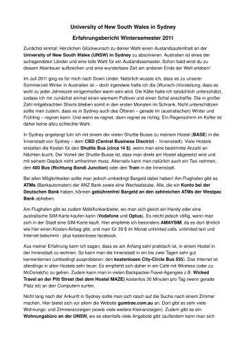 Erfahrungsbericht einer Jura-Studierenden - Fachbereich ...