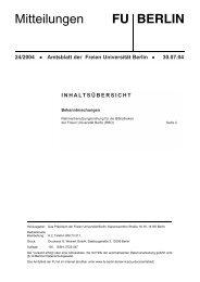 Rahmenbenutzungsordnung für die Bibliotheken der FU Berlin