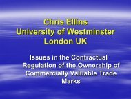 Trade Marks - Contractual Control
