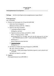 """Lösung Fall 24 """"Die CD"""" Herausgabeanspruch aus Eigentum ..."""