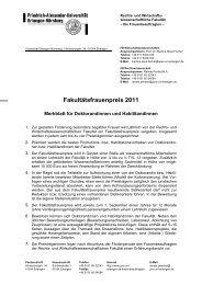 Merkblatt für Bewerberinnen - Fachbereich Rechtswissenschaft
