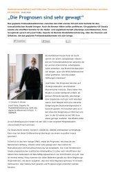 Interview im Weser Kurier vom 15.01.2014