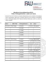 Mündliche Universitätsprüfung 2012/I - Fachbereich ...