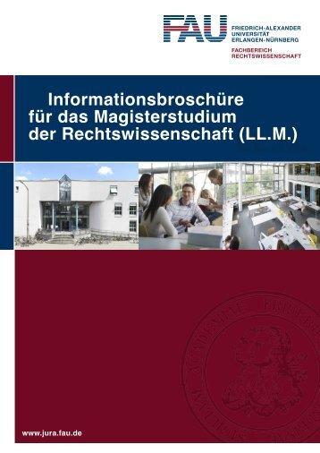 Informationsbroschüre für das Magisterstudium - Fachbereich ...