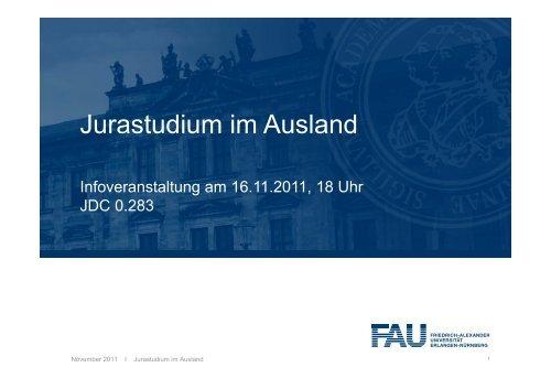 Jurastudium im Ausland