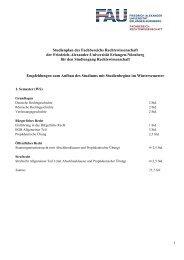 Studienplan des Fachbereichs Rechtswissenschaft der Friedrich ...