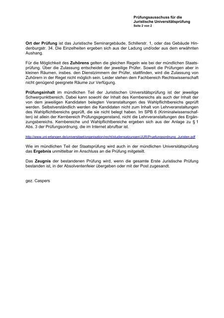 Informationen zum Ablauf der mündlichen Prüfung - Fachbereich ...
