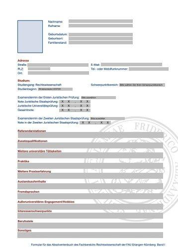 Studiengang Rechtswissenschaft - Fachbereich Rechtswissenschaft ...