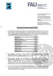 Kurzinformation zum Bewerbungsverfahren - Fachbereich ...