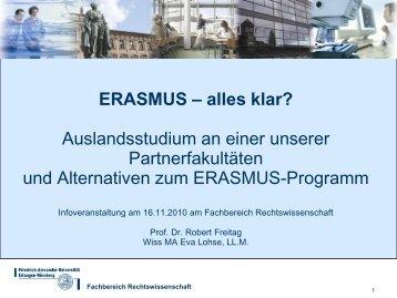Treffen der ERASMUS-Koordinatoren der FAU - Fachbereich ...