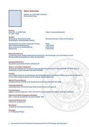 Muster - Fachbereich Rechtswissenschaft