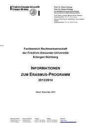 Ausführliche Informationen - Fachbereich Rechtswissenschaft ...