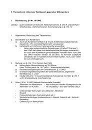 5. Themenblock: Unlauterer Wettbewerb gegenüber Mitbewerbern I ...