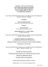 Programm - Fachbereich Rechtswissenschaft