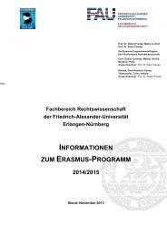 Ausführliche Informationen - Fachbereich Rechtswissenschaft