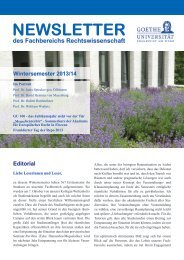 NewsletterWiSe1314_web.pdf - Goethe-Universität