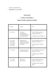 und Zeitplan - Fachbereich Rechtswissenschaft der Goethe ...