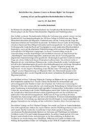 Bericht 2010 - Fachbereich Rechtswissenschaft der Goethe ...