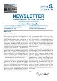 NewsletterWS201011.pdf - Fachbereich Rechtswissenschaft der ...