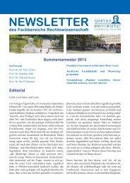 NewsletterSoSe13.pdf - Fachbereich Rechtswissenschaft der ...